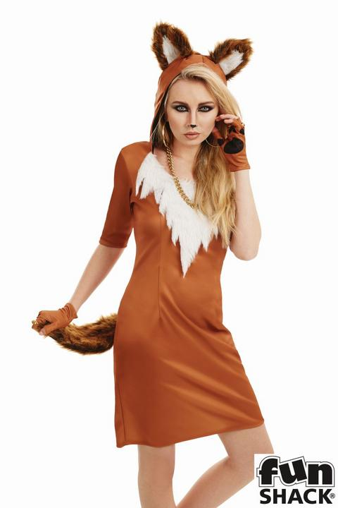Urban Fox Women's Fancy Dress Costume Thumbnail 2