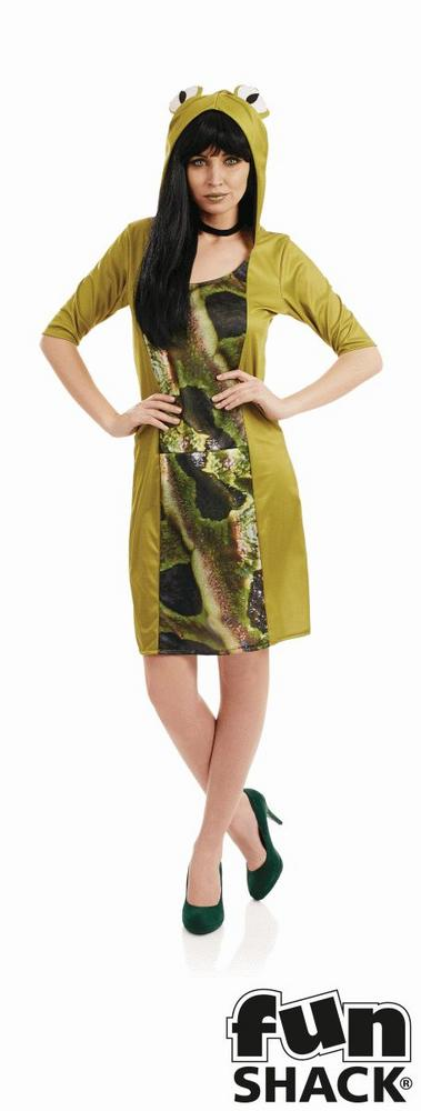 Frog Womens Costume Ladies Fancy Dress Outfit Animal Hen Party