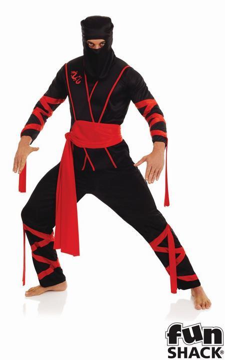 Ninja Men's Fancy Dress Costume Thumbnail 1
