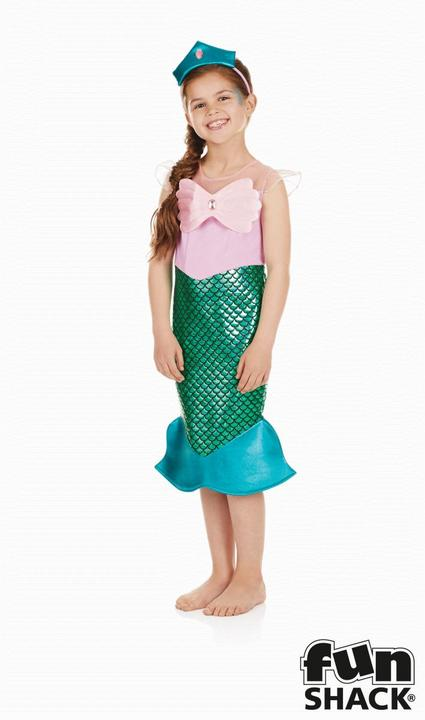 Mermaid Girl's Fancy Dress Costume Thumbnail 1