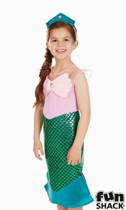 Mermaid Girl's Fancy Dress Costume Thumbnail 2