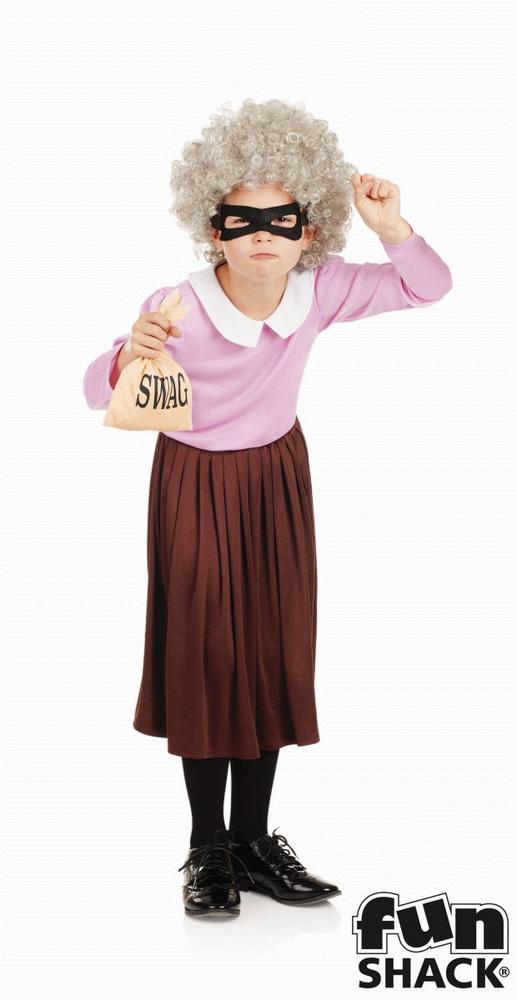 Burglar Granny Girl's Fancy Dress Costume