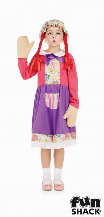 Rag Doll Girl's Fancy Dress Costume Thumbnail 1