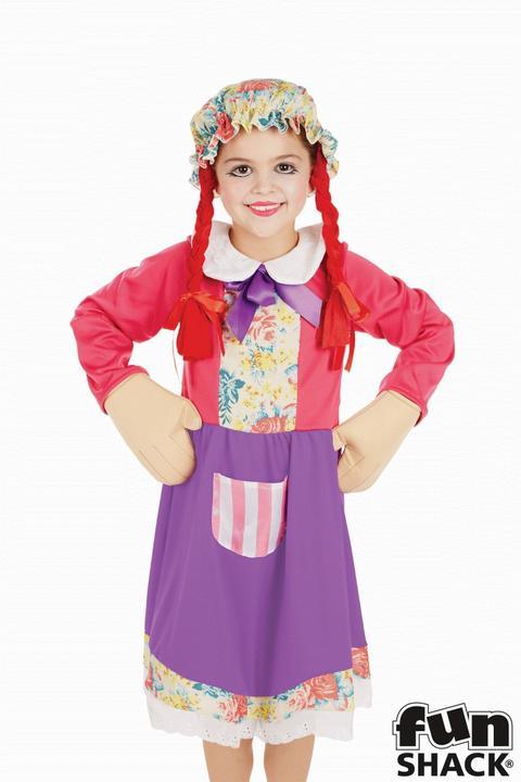 Rag Doll Girl's Fancy Dress Costume Thumbnail 2
