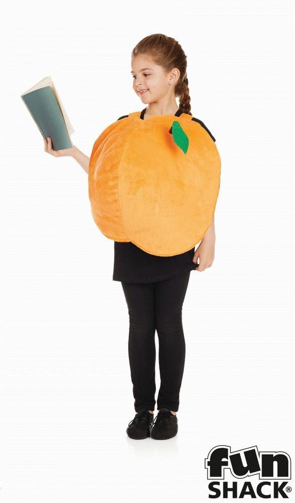 Girls Peach Costume Kids James Roald Dahl School Book Week Fancy Dress