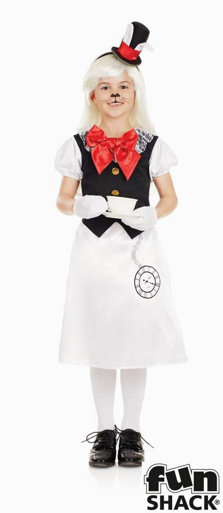 Girls Miss Rabbit Costume kids school book week alice wonderland fancy dress