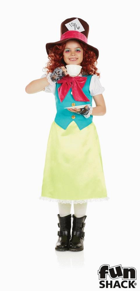 Miss Hatter Girl's Fancy Dress Costume