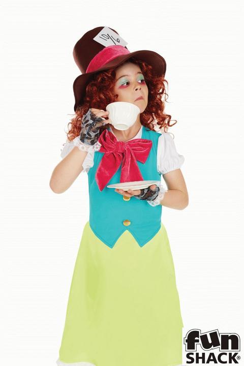 Miss Hatter Girl's Fancy Dress Costume Thumbnail 2