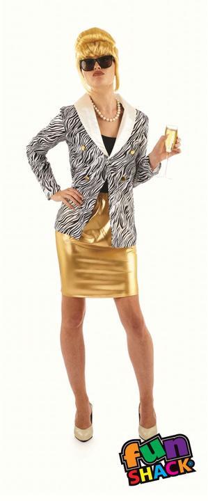 Lady Fabulous Women's Fancy Dress Costume Thumbnail 2