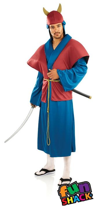 Samurai Men's Fancy Dress Costume Thumbnail 2