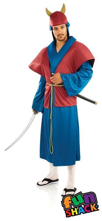 Samurai Men's Fancy Dress Costume Thumbnail 2