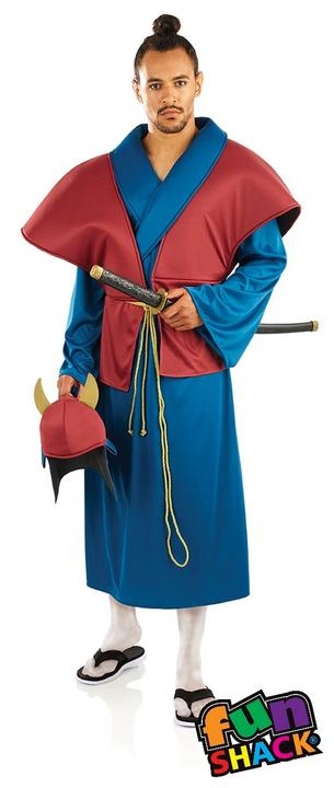 Samurai Men's Fancy Dress Costume Thumbnail 1