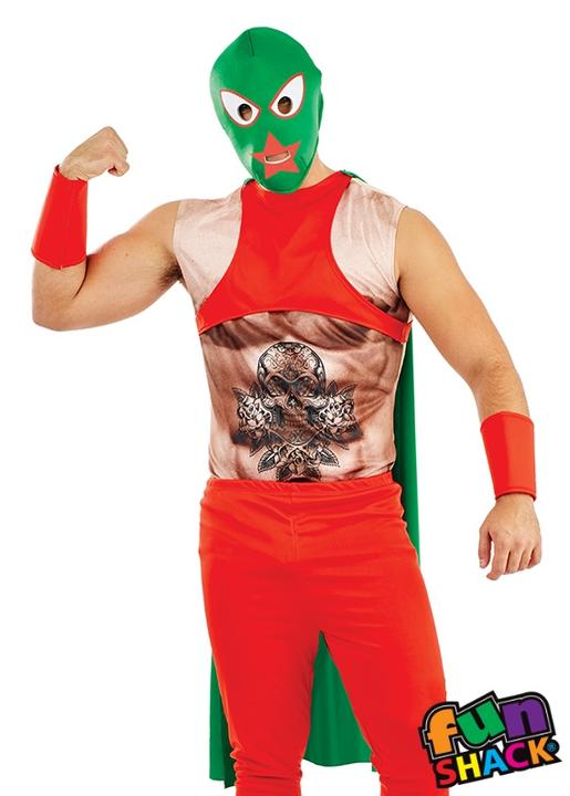 Mexican Wrestler Men's Fancy Dress Costume Thumbnail 2