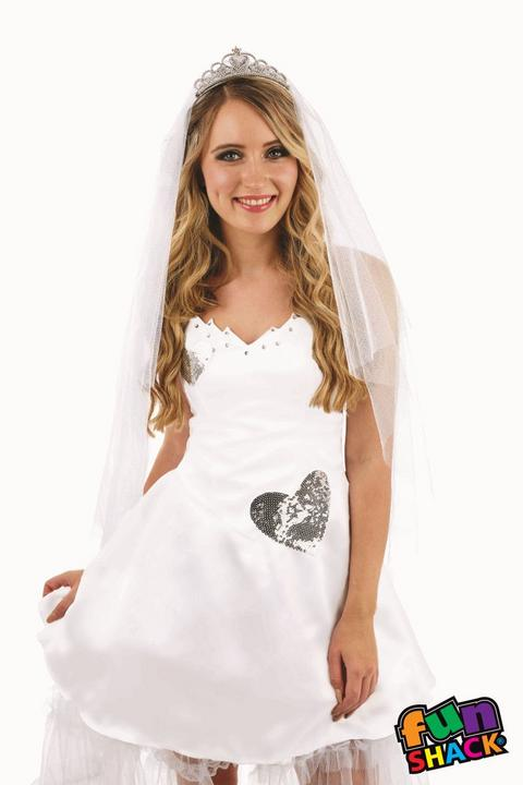 Bride Women's Fancy Dress Costume Thumbnail 1