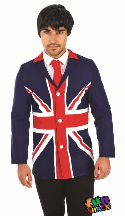 60'S Mod Jacket Men's Fancy Dress Costume Thumbnail 1