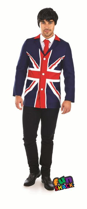 60'S Mod Jacket Men's Fancy Dress Costume Thumbnail 2