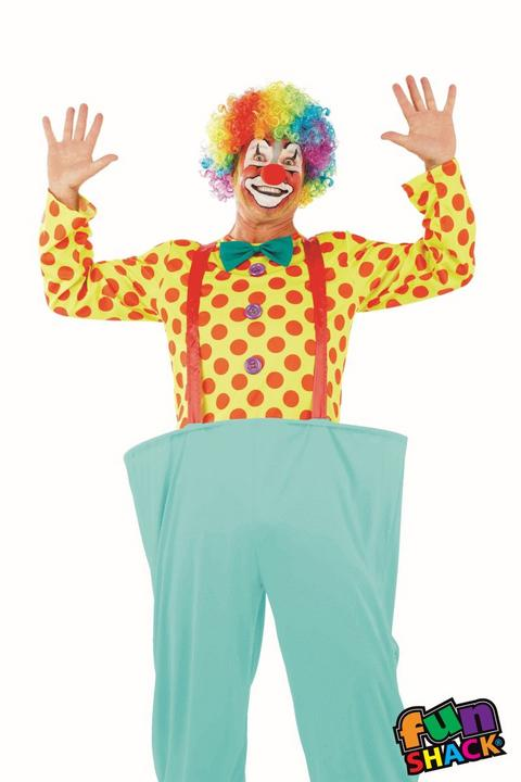 Clown Men's Fancy Dress Costume Thumbnail 1