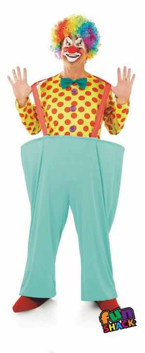 Clown Men's Fancy Dress Costume Thumbnail 2