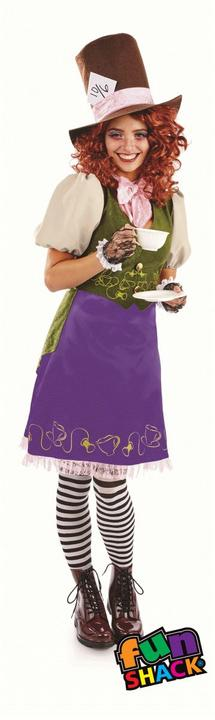 Miss Hatter WOmen's Fancy Dress Costume Thumbnail 2