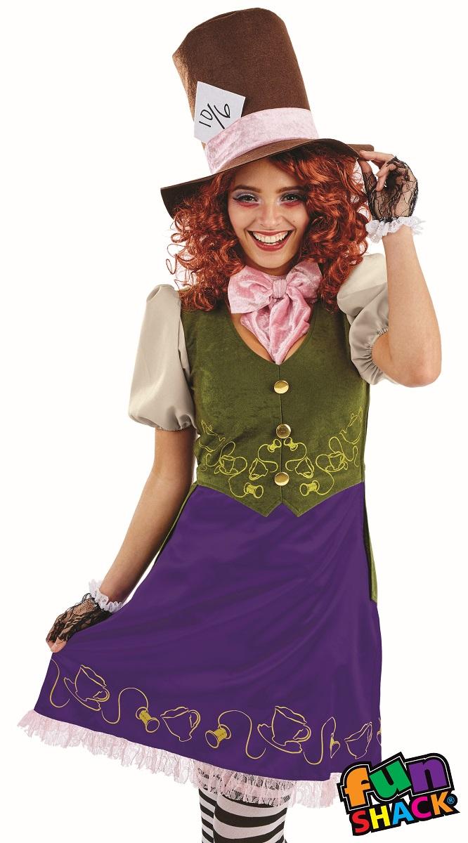 Miss Hatter WOmen's Fancy Dress Costume