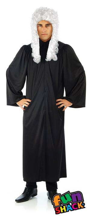 Judge's Robe Men's Fancy Dress Costume Thumbnail 1