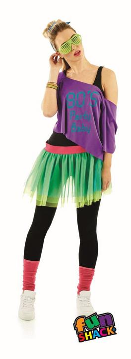 80'S Print Tutu Kit Fanxy Dress Costume Thumbnail 2