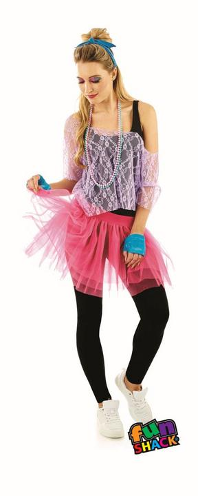 80'S Lace Tutu Kit Women's Fancy Dress Costume Thumbnail 2