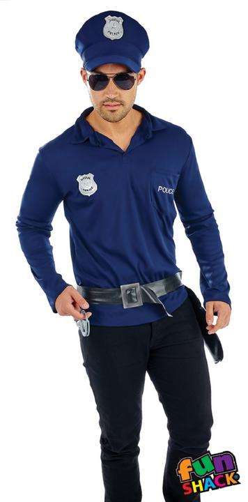 Cop Kit Men's Fancy Dress Costume Thumbnail 2