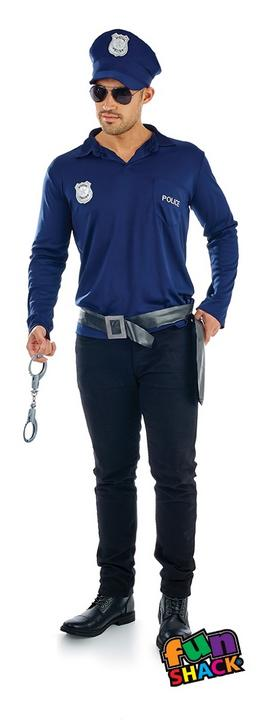 Cop Kit Men's Fancy Dress Costume Thumbnail 1