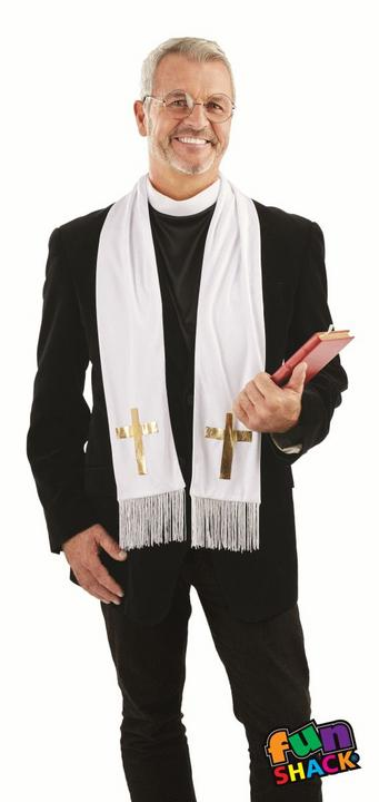 Vicar Kit Men's Fancy Dress Costume Thumbnail 1