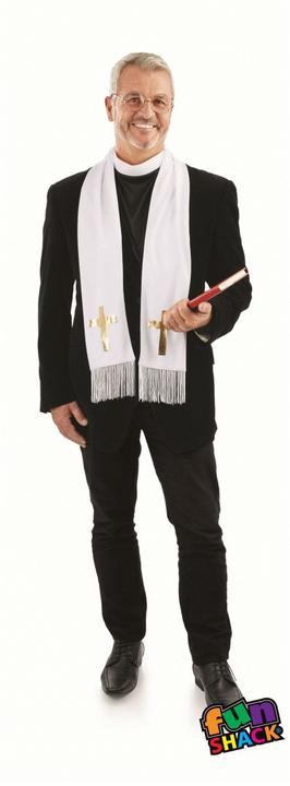 Vicar Kit Men's Fancy Dress Costume Thumbnail 2