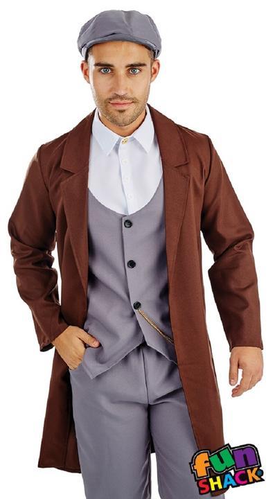 Peaked Cap Gangster Men's Fancy Dress Costume Thumbnail 2