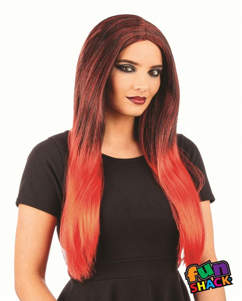 Black/ Red Ombre Wig