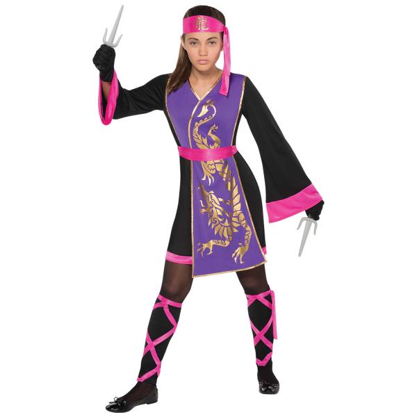 Girl's Sassy Samurai Fancy Dress Costume