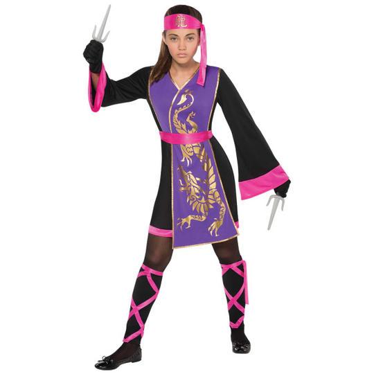 Girl's Sassy Samurai Fancy Dress Costume Thumbnail 1