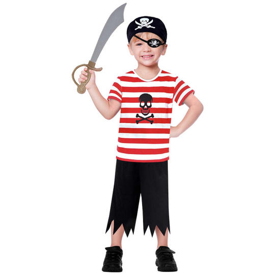 Buccaneer Boy's Fancy Dress Costume Thumbnail 1