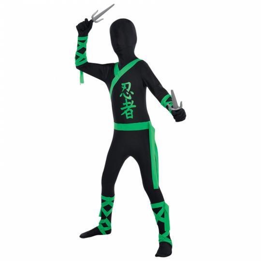 Ninja Party Suit Boy's Fancy Dress Costume Thumbnail 1
