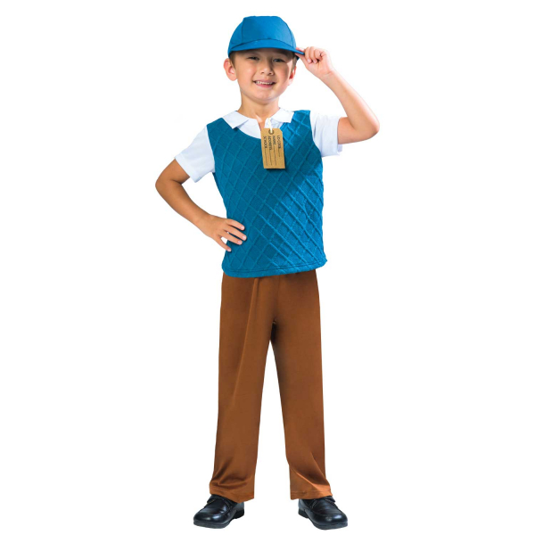 Boys 1930 1940 School Boy Costume Kids Book Week World War 2 Fancy Dress Outift