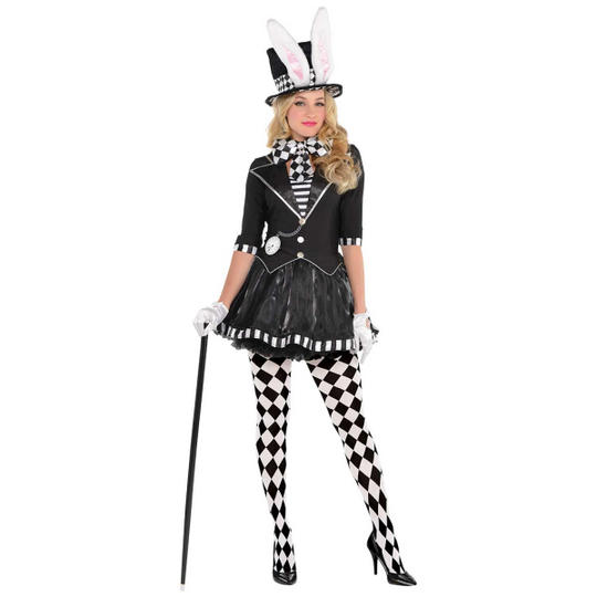 Dark Mad Hatter Women's Fancy Dress Costume Thumbnail 1