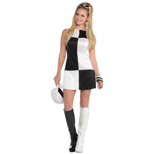 Mod Girl Women's Fancy Dress Costume Thumbnail 1