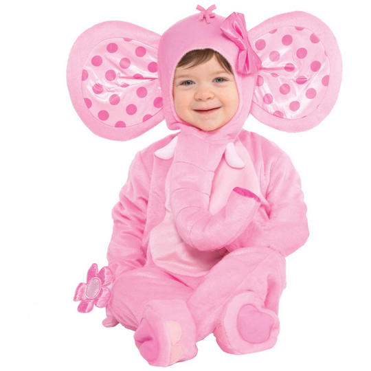Elephant Sweetie Girl's Fancy Dress Costume Thumbnail 1