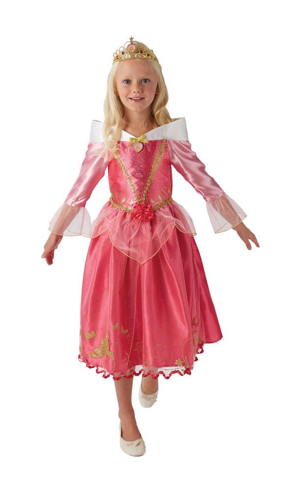 Storyteller Disney Princess Sleeping Beauty Girl's Fancy Dress Costume