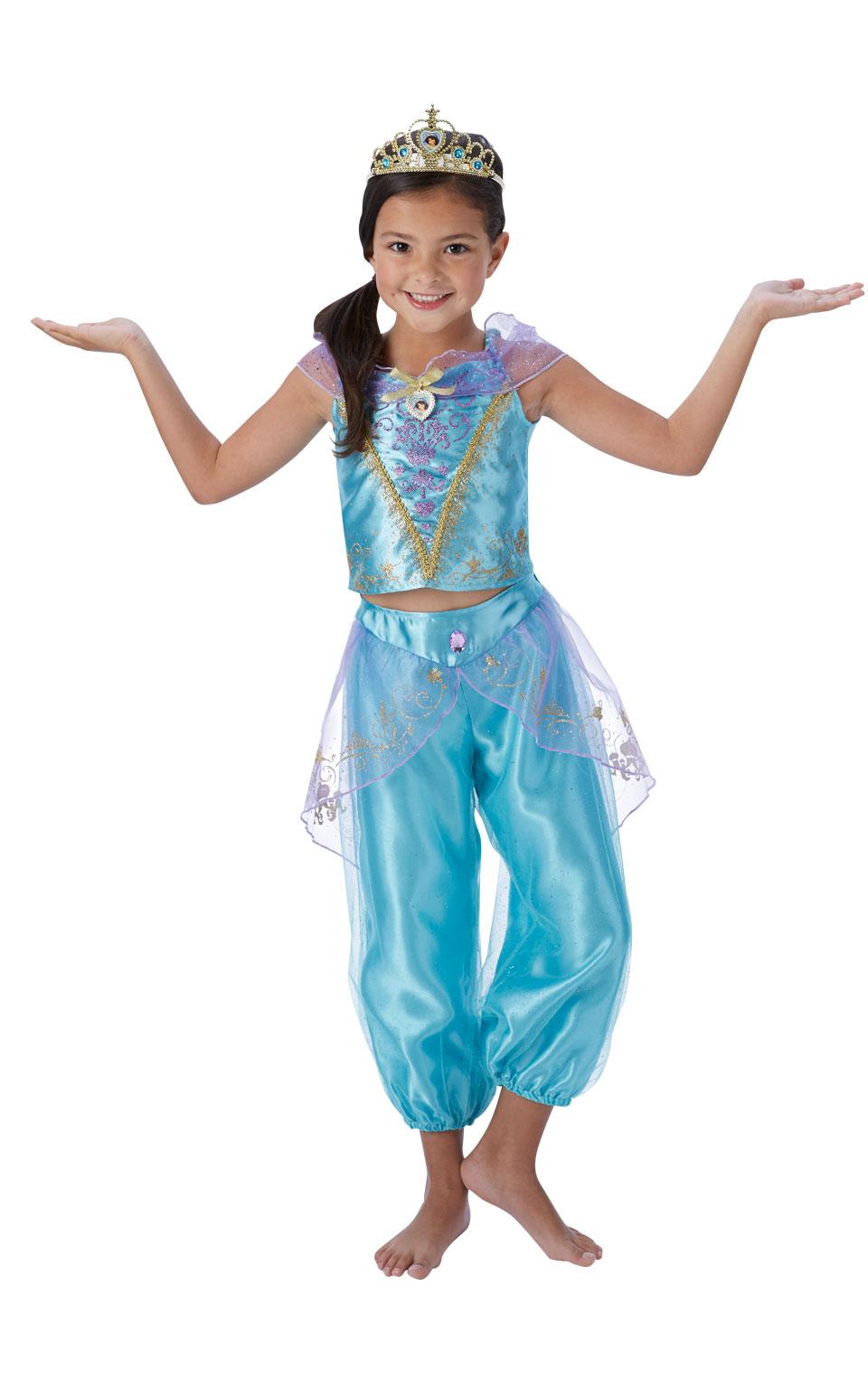 disney princess storyteller jasmine girls fancy dress costume. Black Bedroom Furniture Sets. Home Design Ideas