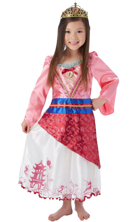Disney Princess Storyteller Mulan Girl's Fancy Dress Costume Thumbnail 1