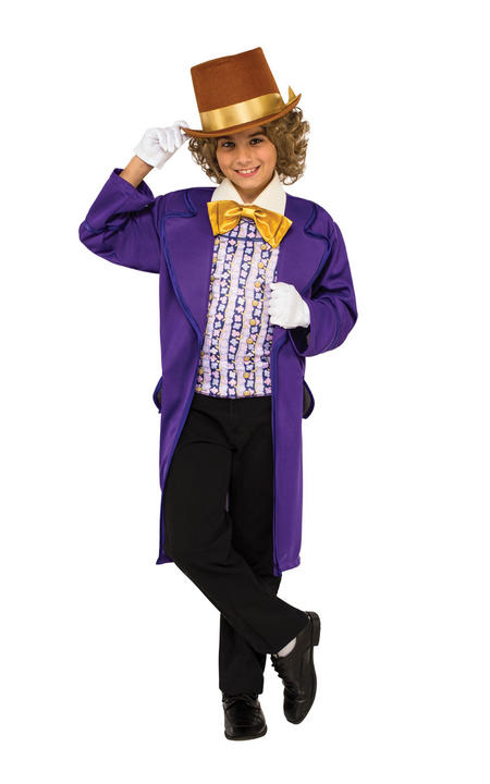 Boys Willy Wonka Costume Charlie Chocolate Factory Roald Dahl Book Week Fancy  Thumbnail 1