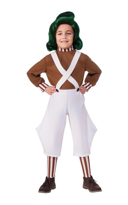 Boys OOmpa Loompa Costume Kids Chocolate Factory Roald Dahl Book Week Fancy Dres Thumbnail 1