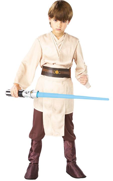 Jedi Boy's Deluxe Disney Star Wars Fancy Dress Costume Thumbnail 1