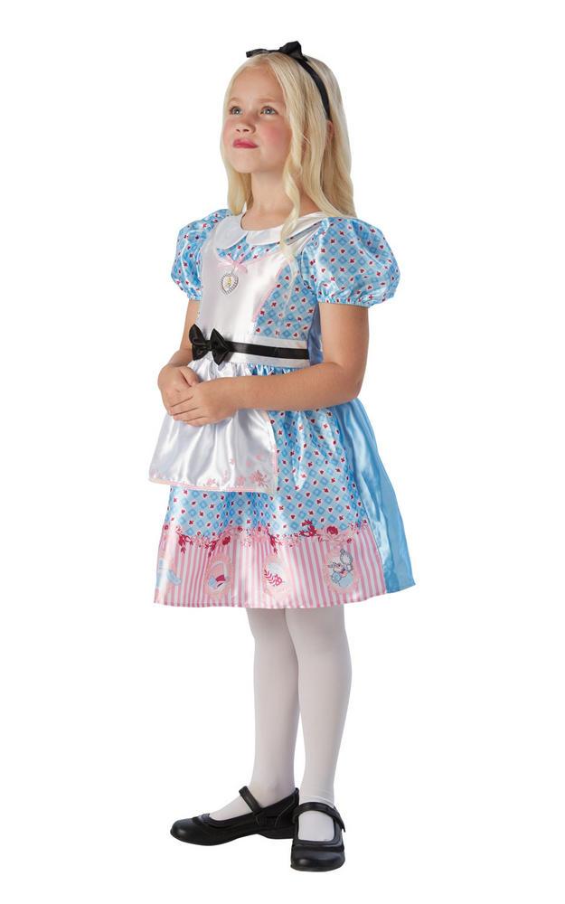 Alice In Wonderland Girl's Deluxe Fancy Dress Costume