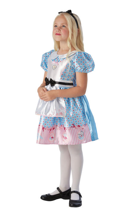 Alice In Wonderland Girl's Deluxe Fancy Dress Costume Thumbnail 1