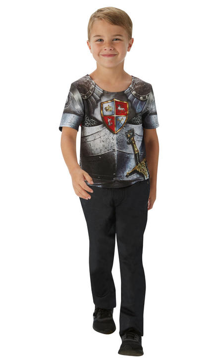 Knight T-Shirt Boy's Fancy Dress Costume Thumbnail 1